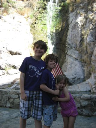 Kids_tuscon_waterfall